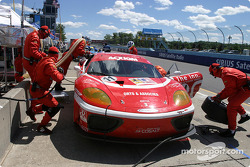 Pitstop for #11 JMB Racing USA Ferrari 360GT: Edi Gay, Jim Michaelian, Michael Orts