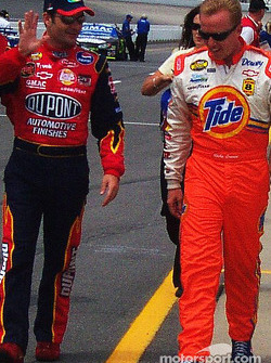 Jeff Gordon and Ricky Craven