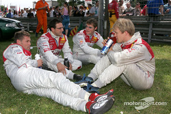 Tom Kristensen, Christian Abt, Martin Tomczyk and Mattias Ekström