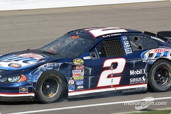 Rusty Wallace showing the scars of battle