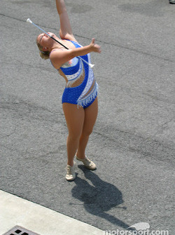 Indiana State marching band member