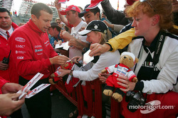 Olivier Panis signs autographs