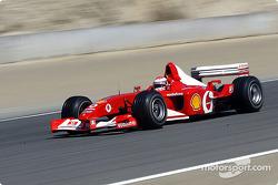 Ferrari test driver Andrea Bertolini in the former car of Michael Schumacher