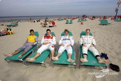 Jeroen Bleekemolen, Martin Tomczyk, Christijan Albers and Charles Zwolsman (F3 Euroserie)