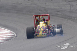 P.J. Jones missing a tire