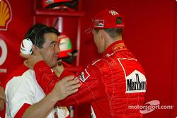 Hirohide Hamashima and Michael Schumacher