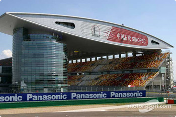The spectacular Shanghai International Circuit architecture