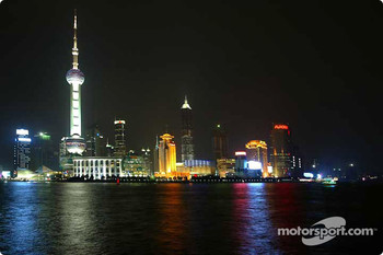 The spectacular Shanghai skyline at night