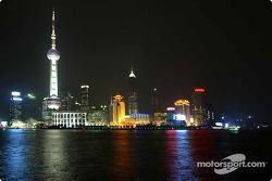 The spectacular Shanghai skyline at night