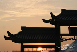 Sunset at Shanghai International Circuit