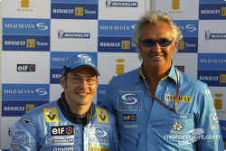Jacques Villeneuve and Flavio Briatore
