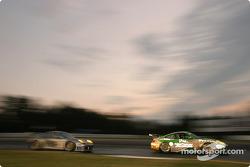 #66 The Racers Group Porsche 911 GT3 RSR: Patrick Long, Cort Wagner, Mike Rockenfeller, #8 Comprent Motor Sports Porsche 911 GT3 RS: Michael Cawley, Andrew Davis, Charles Espenlaub