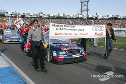 Mattias Ekström's car on the starting grid