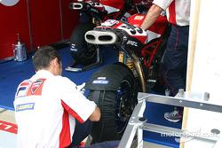 Ducati Fila pit area