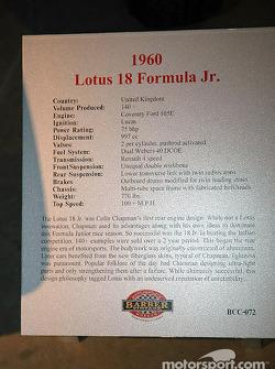 1960  Lotus Formula Junior plaque