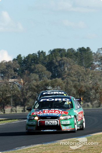 John Bowe being pressured by Craig Lowndes