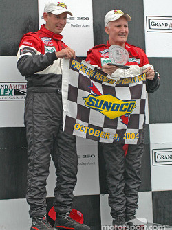 DP podium: overall and class winners Butch Leitzinger and Elliott Forbes-Robinson