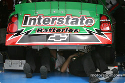 Joe Gibbs Racing crew members at work