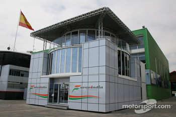 Force India with a new motorhome