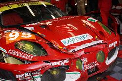 #95 AF Corse Ferrari F430 GT with damage