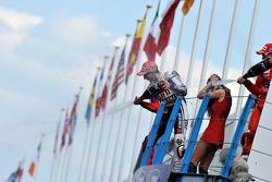 Podium: race winner Jorge Lorenzo, Fiat Yamaha Team