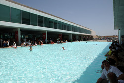The circuit swimming pool gets a lot of use in the heat