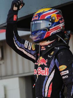 Race winner Mark Webber, Red Bull Racing