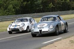 #58 Alfa Romeo Giulietta SZT 1962: Pascal Perrier, Benjamin De Fortis, Vincent Lasser and #74 Mini Marcos 1965: Rémy Julienne, Jean-Pierre Door, François Manjard