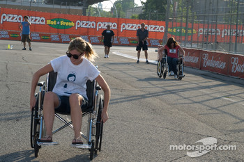 Wheel chair racing for charity
