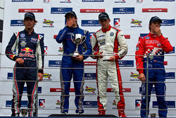 Podium from Left: Jean-Eric Vergne, Felipe Nasr, driver of the day Daniel Mckenzie and James Calado