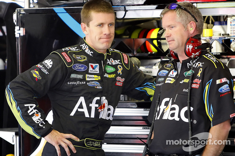 Carl Edwards, Roush Fenway Racing Ford and crew chief Bob Osborne