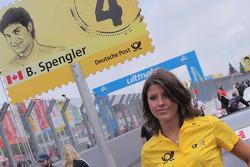 Grid girl of Bruno Spengler, Team HWA AMG Mercedes C-Klasse