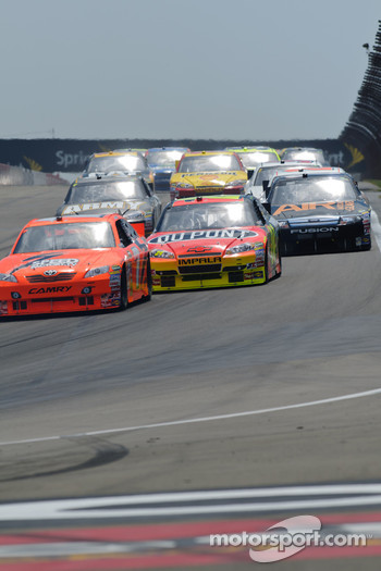 Jeff Gordon, Hendrick Motorsports Chevrolet, Robby Gordon, Robby Gordon Motorsports Toyota