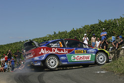 Mikko Hirvonen and Jarmo Lehtinen, Ford Focus RS WRC08, BP Ford Abu Dhabi World Rally Team