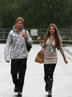 Jenson Button, McLaren Mercedes, Jessica Michibata girlfriend of Jenson Button