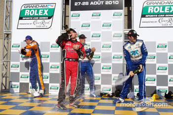 DP podium: class and overall winners Scott Pruett and Memo Rojas, second place Jon Fogarty and Alex Gurney, third place Max Angelelli and Ricky Taylor with Tracy Krohn