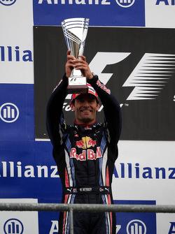 Podium: second place Mark Webber