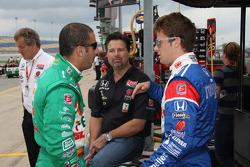 Tony Kanaan, Andretti Autosport and Marco Andretti, Andretti Autosport with Michael Andretti