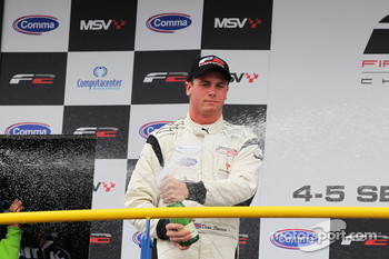 Podium: race winner Dean Stoneman