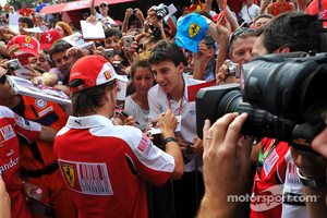 Ferrari fans with Fernando Alonso at Monza, 2010