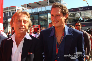 Luca di Montezemolo, Scuderia Ferrari, FIAT Chairman and President of Ferrari and John Elkann,  President of the Fiat Group and nephew Of Gianni Agnelli and Lapo Elkann