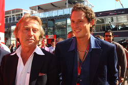 Luca di Montezemolo, Scuderia Ferrari, FIAT Chairman and President of Ferrari and John Elkann,  President of the Fiat Group and nephew Of Gianni Agnelli and Lapo Elkann