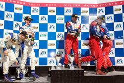 GT podium: Andrew Davis, Robin Liddell, Gunter Schaldach, Jan Magnussen, Adam Christodoulou and John Edwards