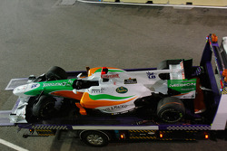 Stopped car of Adrian Sutil, Force India F1 Team