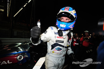 Race winner Stéphane Sarrazin celebrates