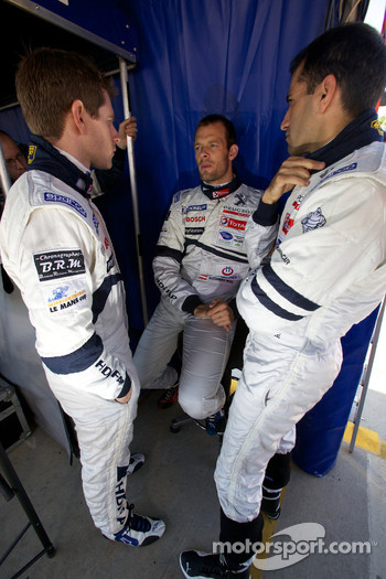 Anthony Davidson, Alexander Wurz and Marc Gene