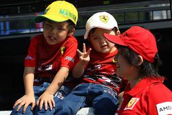 Japanese fans, Scuderia Ferrari