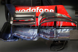 Aero paint on the front wing of the Lewis Hamilton, McLaren Mercedes