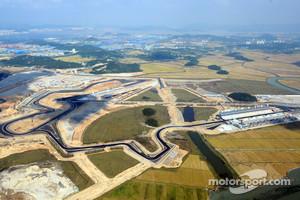 Aerial view of the Korea International Circuit