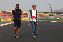 Sebastian Vettel, Red Bull Racing walking the track